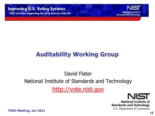 Auditability Working Group