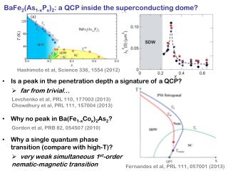 BaFe 2 (As 1-x P x ) 2 : a QCP inside the superconducting dome?