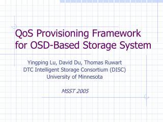 QoS Provisioning Framework for OSD-Based Storage System