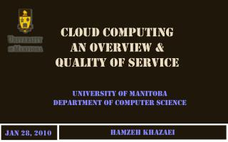 Cloud Computing  An overview &  Quality of Service