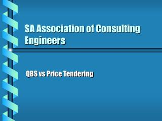 SA Association of Consulting Engineers