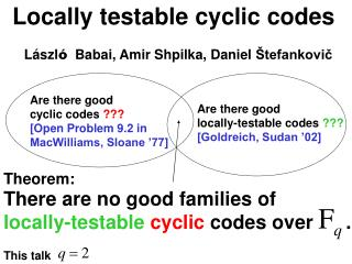 Locally testable cyclic codes