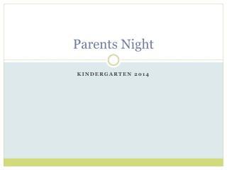 Parents Night