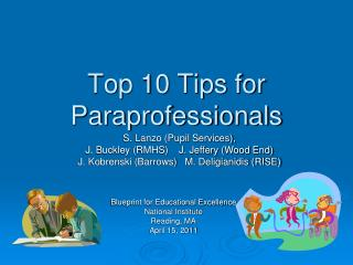Top 10 Tips for Paraprofessionals