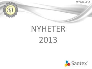 NYHETER 2013