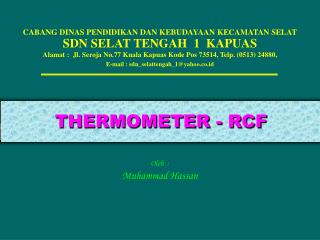THERMOMETER - RCF