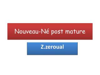 Nouveau-Né  post mature
