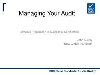 Managing Your Audit