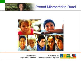 Pronaf Microcrédito Rural