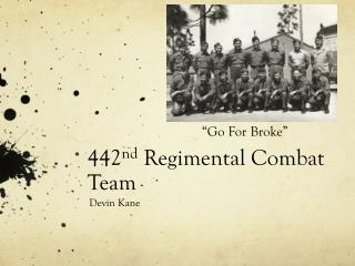 442 nd  Regimental Combat Team