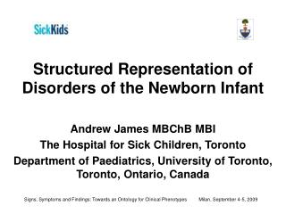 Structured Representation of Disorders of the Newborn Infant