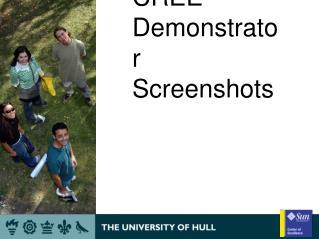 CREE Demonstrator Screenshots