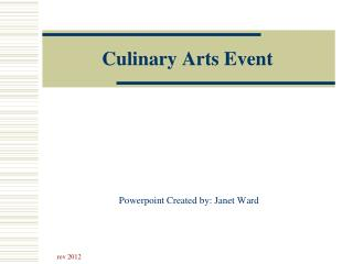 Culinary Arts Event
