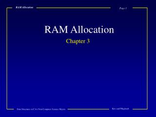 RAM Allocation