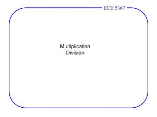 Multiplication Division