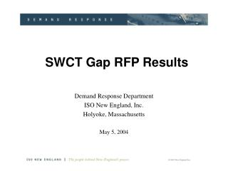 SWCT Gap RFP Results