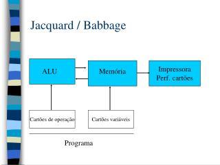 Jacquard / Babbage