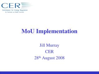 MoU  Implementation
