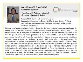 MARKO MARCELO MACHICAO BANKOVIC  (Bolivia)