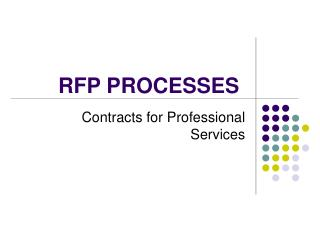RFP PROCESSES
