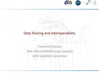 Data Sharing and Interoperability