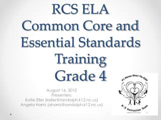 RCS ELA Common Core and Essential Standards Training Grade 4