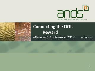 Connecting the DOIs 	Reward