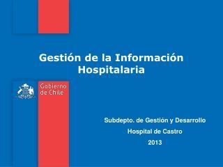 Gestión de la Información Hospitalaria