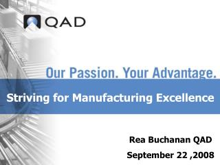 Striving for Manufacturing Excellence