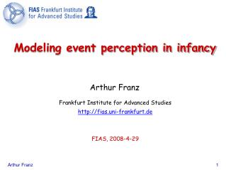 Modeling event perception in infancy