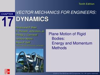 Plane Motion of Rigid Bodies: Energy and Momentum Methods