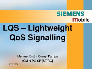 LQS – Lightweight QoS Signalling
