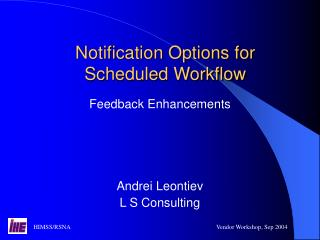 Notification Options for Scheduled Workflow