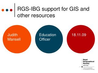 RGS-IBG support for GIS and other resources