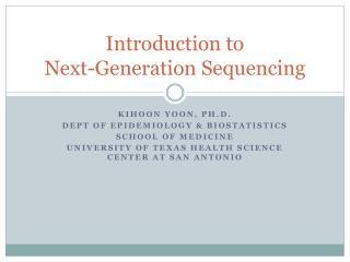 Introduction to Next-Generation Sequencing
