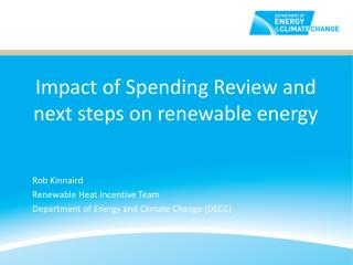 Impact of Spending Review and next steps on renewable energy
