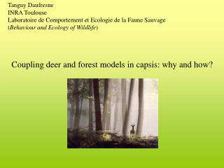 Coupling deer and forest models in capsis: why and how?