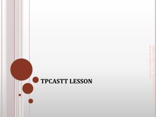 TPCASTT LESSON
