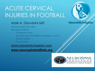 Acute Cervical Injuries In Football
