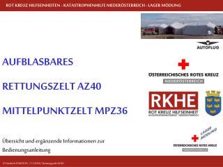 Übersicht und ergänzende Informationen zur Bedienungsanleitung