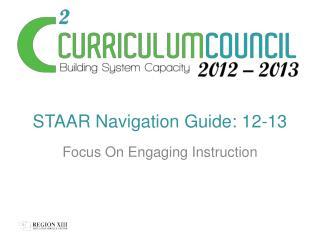 STAAR Navigation Guide: 12-13