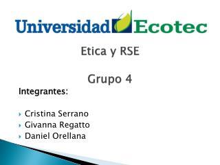 Etica  y RSE Grupo  4