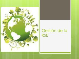 Gestión de la RSE