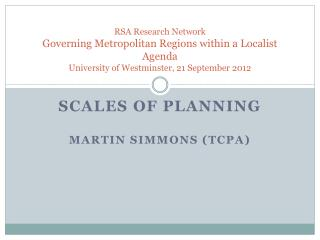 SCALES OF PLANNING MARTIN SIMMONS (TCPA)