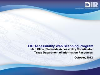 EIR Accessibility Web Scanning Program