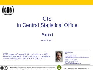 GIS  in Central Statistical Office Poland stat.pl