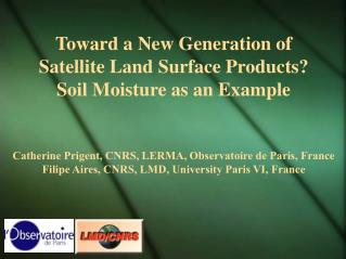 Toward a New Generation of  Satellite Land Surface Products?  Soil Moisture as an Example