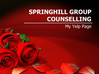 SPRINGHILL GROUP COUNSELLING - Yelp Page