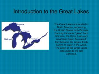 Origin of the Great Lakes
