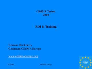 CEdMA Toolset  2004